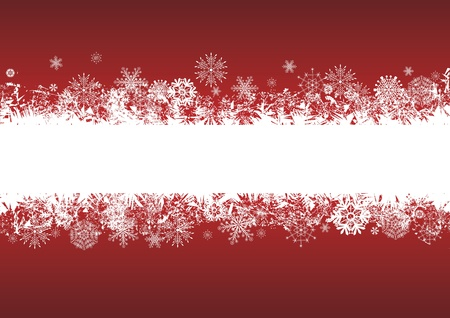 vector abstract background with snowflakes in red and white colors