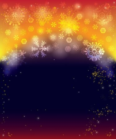 christmas background with snowflakes  and stars Stock Photo - 10773932