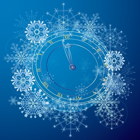vector abstract background with clock in blue and white colors (EPS 10)