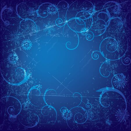 vector abstract background with snowflakes in blue  colors (EPS 10) Vector