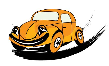 vector illustration of the funny car Vector