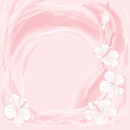 vector romantic floral background in pink color
