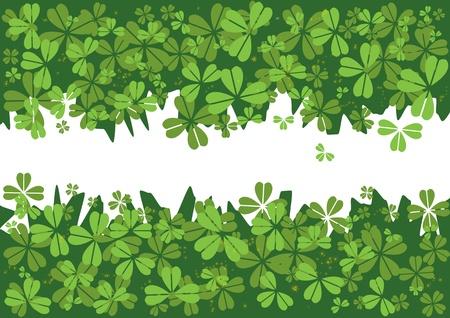 four leafed clover: San Patricio `s de fondo con el tr�bol d�a