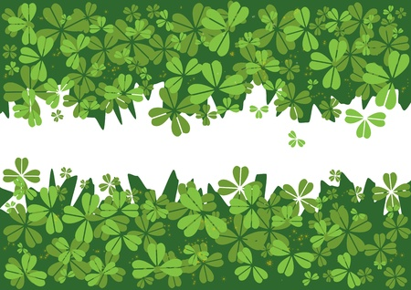 St.Patrick`s day background with clover Vector