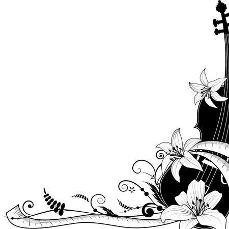 muguet fond blanc: illustration all�gorique du violon avec compteur vestimentaire