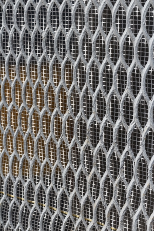 delimit: the wire netting grid close up background