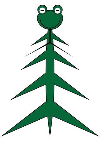 illustration of funny snake as fir tree for l New Year 2013 Vector