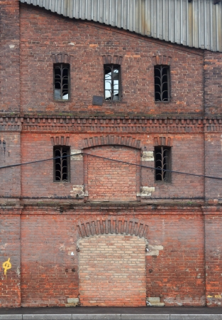 background with the abandoned old brick house Stock Photo - 16490320