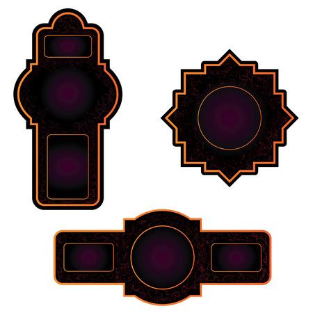 etiqueta: vector set of the  labels Illustration