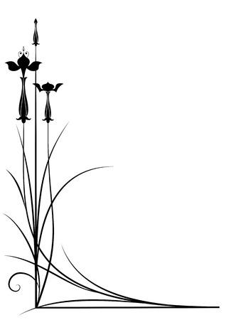 fuchsia color: vector background with fuchsia in black and white color for corner design Illustration