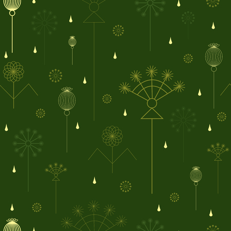 umbel: seamless background with grass in green colors Illustration