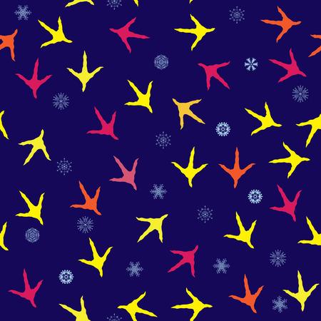 vogelspuren: Denver, Colorado Muster Flagge auf synthetischem Leder Textur