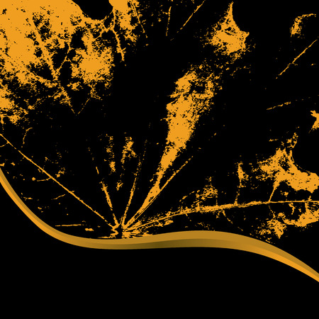 autumnal: abstract vector autumnal background with leaf of maple