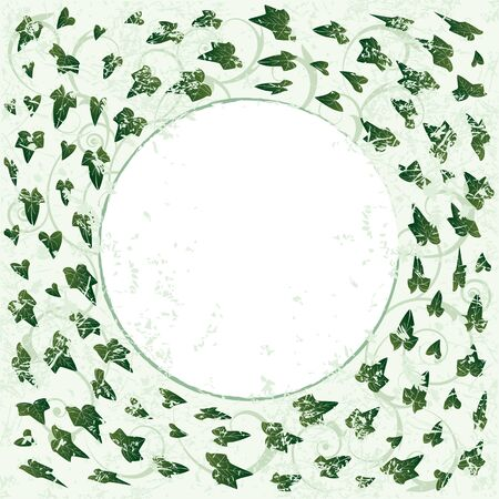 vector frame with ivy in green color Illustration