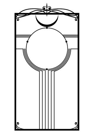 abstract vector frame in black and white Ilustração