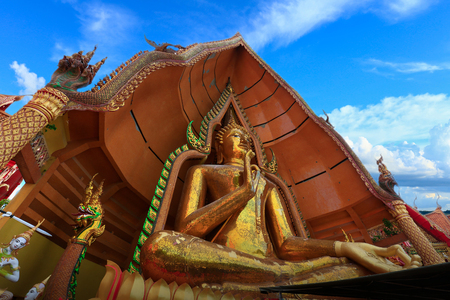 sua: Big Beautiful Buddha statue at Tiger Cave Temple (Wat Tham Sua), Kanchanaburi Province, Thailand