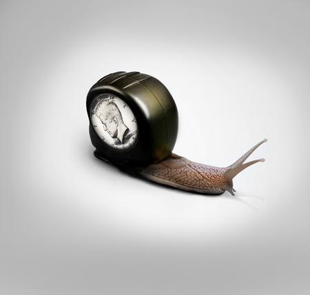 Snail Business Concept Stock Photo