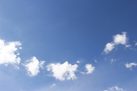 cuve: blue sky and white cloud. Stock Photo