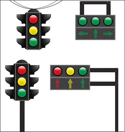 tage: basic traffic sign light Illustration