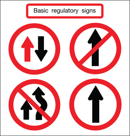 tage: basic traffic sign straight and caution