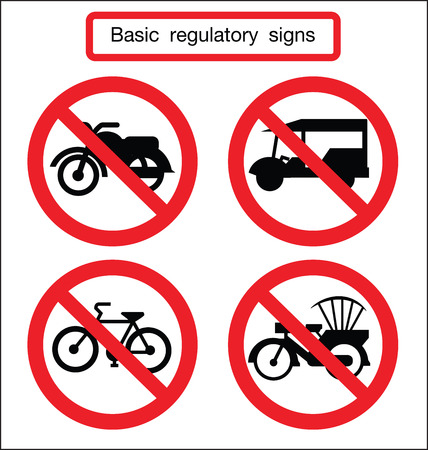 tage: basic traffic sign no car and motorcicle and bike