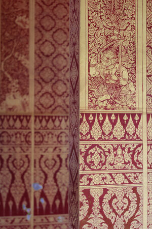 wall paint: thai wall paint of temple
