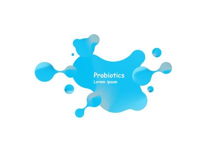 Probiotics bacteria vector design. Concept of design with Lactobacillus Probiotic Bacteria. Template design with Prebiotic healthy nutrition ingredient Illustration
