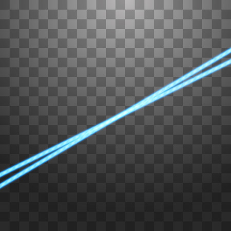 Abstract blue laser beam. Isolated on transparent black background. Vector illustration Stock Vector - 122293574