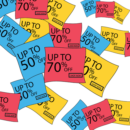 Vector discount stickers. Collection stickers, price tags. Sale, free new Ilustração