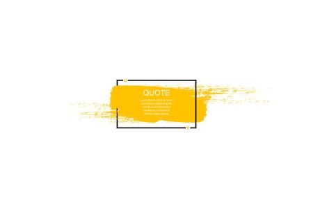 Quote box frame, big set. Quote box icon. Texting quote boxes. Blank Grunge brush background. Vector illustration