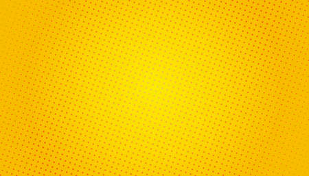 Pop Art background. Retro dotted background. Vector illustration. Halftone yellow pop art 矢量图像