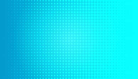 Comic background. Halftone dotted retro pattern with circles, dots, design element for web banners, posters, cards, wallpapers, backdrops, sites. Pop art style. Vector illustration. Blue color Vector Illustration