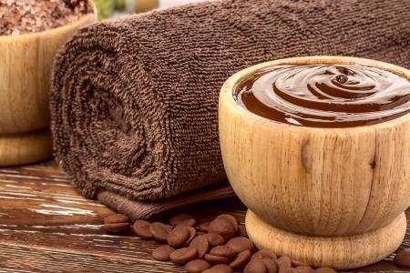 chocolate mask: Chocolate spa  Stock Photo