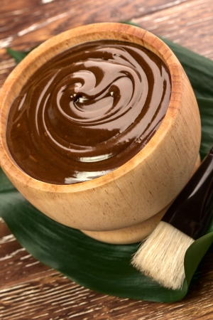chocolate mask: chocolate mask in a bowl Stock Photo