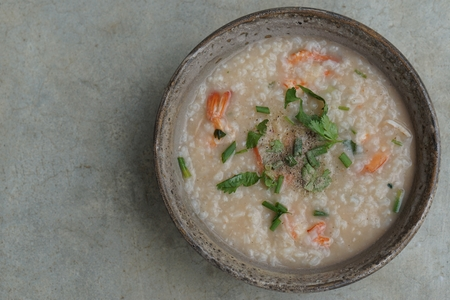 Thai Rice Soup With Shrimp (Khao Tom Goong) photo