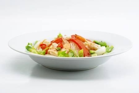 dish of mung bean noodle spicy salad photo