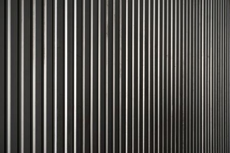 corrugated iron: abstract of metel sheet in vertical line motion Stock Photo