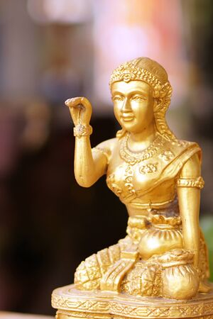 beckoning: the woman statue beckoning happy lot and luck in