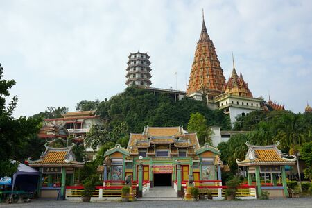 travel place of warship at Wat Tham Khao Noi in Thailand photo