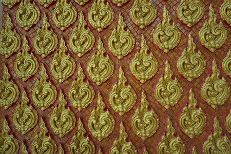 stucco work about Thai fine art background photo