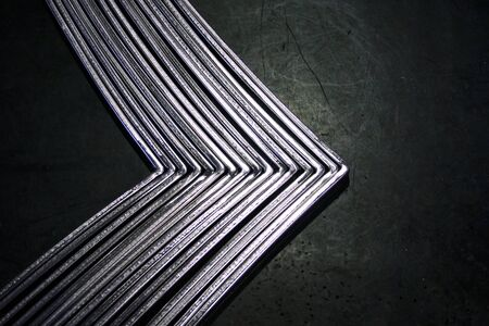 angle: abstract black and white angle metal put on the rubber