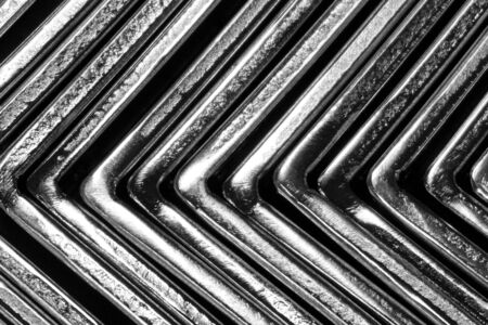 abstract black and white angle metal put on the rubber photo