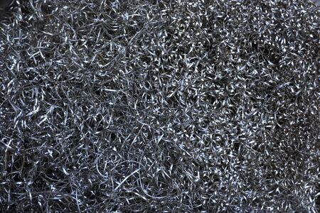 abstract metal scrap from the products after used milling machine Stock Photo
