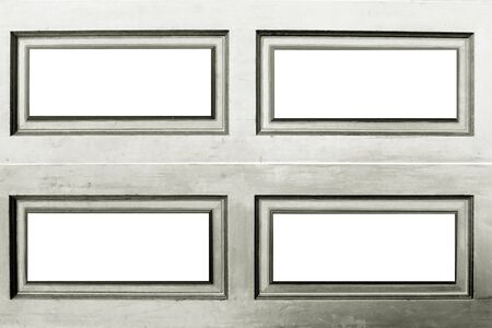 sliver style of four rectangle frames with white background photo