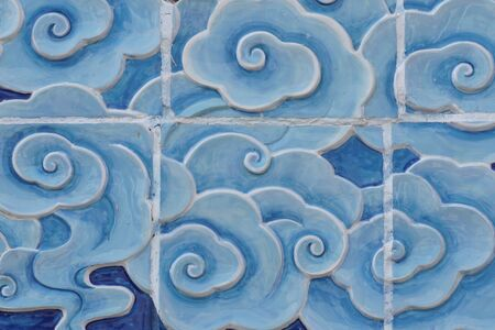 wall tile: cloud wall tile texture in Chinese style