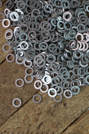 spare part: abstract washer spare part for background used