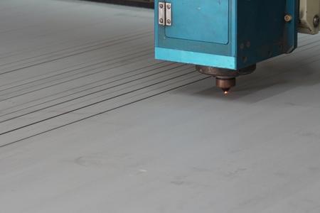 metal sheet had been cut by laser cutting machine photo