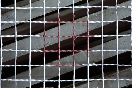abstract of square metal wire for background used photo