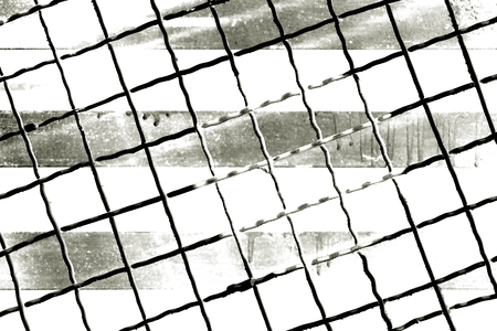 metal wire: abstract of square metal wire for background used