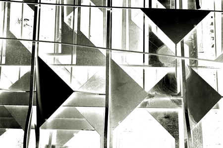 corte laser: abstract black and white laser cutting scrap triangle shape